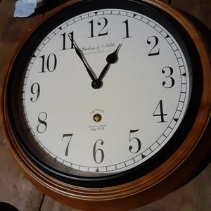 Sterling and noble walk hanging  clock